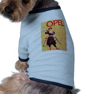 Opel   Vintage Bicycle Poster Art ( 1900 ) Dog T Shirt