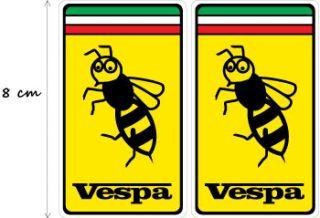 2X VESPA PIAGGIO FERRARI WASP Aufkleber Decal STICKERS