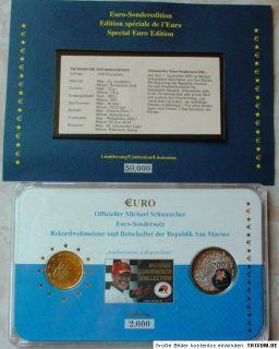 Michael Schumacher Euro Sonderedition 2003 + Numisbrief