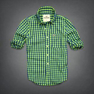 Hollister Herren Freizeithemd Hemd Shirt Abercrombie Fitch Muscle Fit