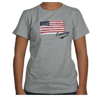 Converse T Shirt Converse USA in grau Sport & Freizeit