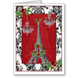 Tower ~ Joyeux Noel Merry Christmas Greeting Cards