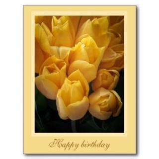 Tulips Happy birthday Postcard