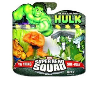 Marvel Super Hero Squad   The Thing und She Hulk Action Figur