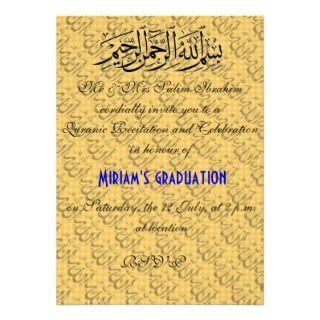 Quranic recitation muslim celebration invite