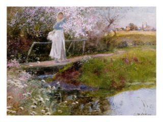 The Orchard Brook Giclee Print by Thomas Mackay