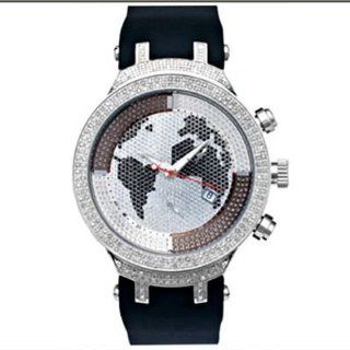 Joe Rodeo Diamond Watch JoJo Meister 2.20ct World Map