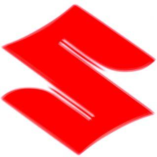 Aufkleber Sticker Logos SUZUKI rotes S 2 Stück ca 82x80mm Motorrad
