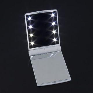 Pocket 4 Colors Cosmetic Mirror 8 LED Light Lamps DIY Fashion Make up