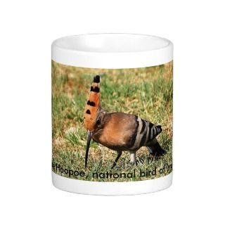 The Hoopoe, national bird of Israel, coffee mug