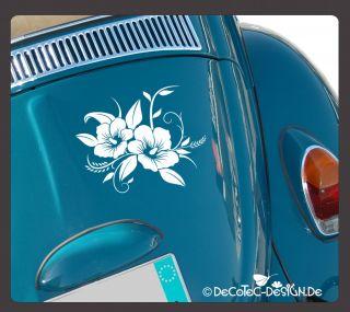 A315 Hibiskus Blumen Auto Aufkleber Autoaufkleber Hawaii Sticker Blume