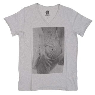 Boom Bap Herren T Shirt light grey V Neck  LOOK  Gr.L