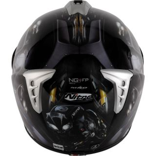 NITRO NGFP PANTHER FULL FACE ACU GOLD RACING MOTORBIKE MOTORCYCLE