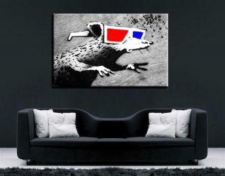 Leinwandbild 100x70cm Banksy Art Bild Graffiti Wandbild 329 k .Poster