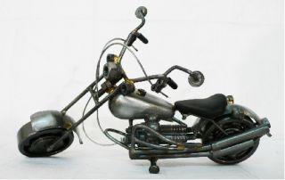 Harley Davidson Motorrad Modell aus Schrauben 12 Metall