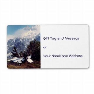 Snow in Alpine Mountain Christmas Gift Tag Custom Shipping Labels