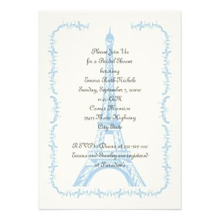 Paris wedding purple Eiffel Tower Save the Date Custom Invites
