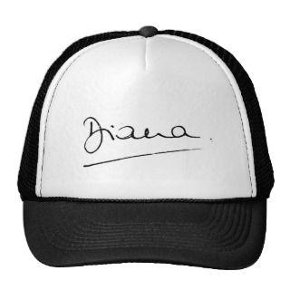 No.34 The signature of Princess Diana. Hat