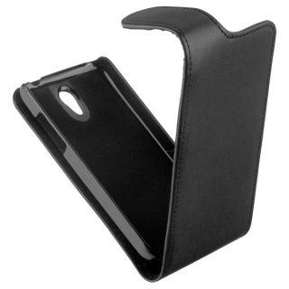 New Flip Style Case black Tasche f Huawei Ascend G330 U8825 Etui