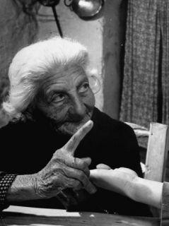 90 Year Old Gypsy Fortune Teller, Carmen Maya Premium Photographic Print