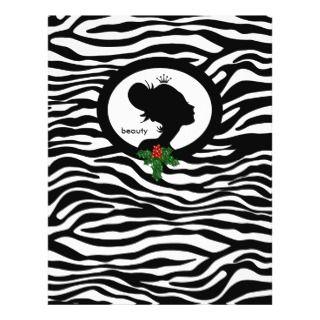Christmas Salon Flyer Beauty Zebra Black Crown flyers by spacards