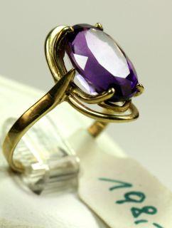 Goldring echt Gold 333 Ring mit Amethyst Rw ca 51 aus