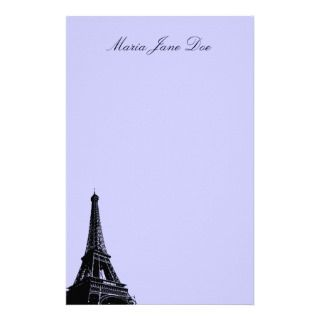 Eiffel Tower   Parisian Mermories Custom Stationery