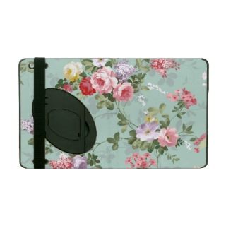 Vintage Elegant Pink Red Roses Pattern iPad Case