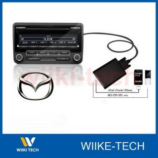Aux In Interface Adapter Kit   Mazda 2 3 5 6 8 CX7 MX5 RX8 323