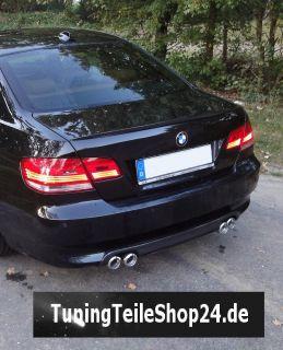 Doppelrohr Endrohr Auspuffblende f. 3er BMW E92 E 92 335 i 335i Coupé
