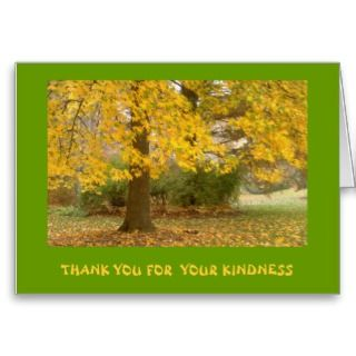 GREETING CARD, PHOTOGRAPHY, FALL COLOR, THANK YOU