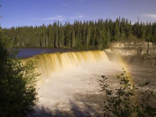 Lady Evelyn Falls Territorial Park, Northwest Territories, Canada Photographic Print by Michael DeFreitas