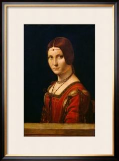 Portrait of a Lady from the Court of Milan, circa 1490 95 Framed Giclee Print by Leonardo da Vinci