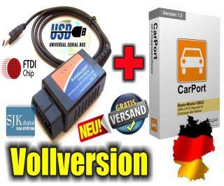 OBDII CAN 327 Diagnose Interface V1.4 für Mercedes + Carport Basis