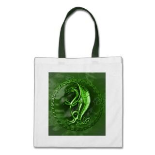 Green Celtic Dragon Bag