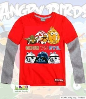 Super ANGRY BIRDS Star Wars Langarmshirt Sweatshirt 104 152 WINTER