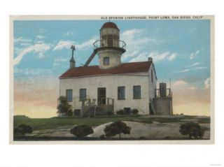 San Diego, California   Old Spanish Lighthouse Point Loma Posters