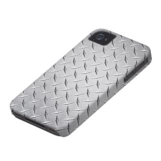 Diamond Plate iPhone 4/4S Case Mate Case iPhone 4 Case Mate Case