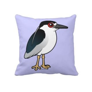 Black crowned Night Heron Pillows