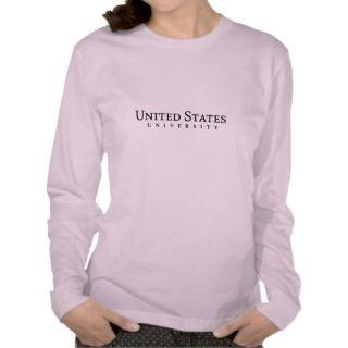 US University Ladies Long Sleeved Fitted Top Tee Shirt