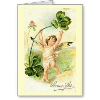 Bonne Fete / Happy Holiday   Vintage Card