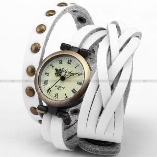 Fashion Punk Damenuhr Quarzuhr Damen Uhr Leder Armbanduhr Geschenk