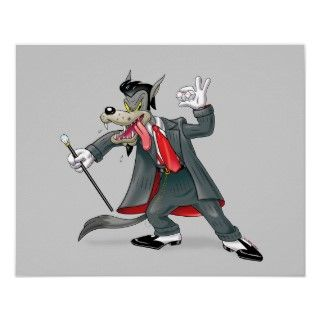 Its the High Rollin Big Bad Wolf in a Zoot Suit sporting a diamond