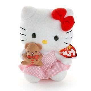 Ty Beanie Baby ~ Hello Kitty mit Teddybär Spielzeug