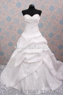 UK Designer Wedding dress bridal gown size 10 12 14 18 2406 taffeta