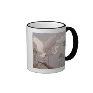 Great white heron, white morph of great blue heron coffee mug