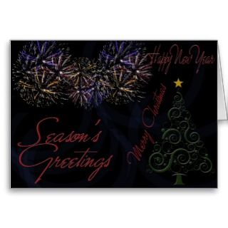Happy New Year 2012 Merry Christmas Greeting Card