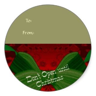 Not Until Christmas Gift Tag Sticker   Customized