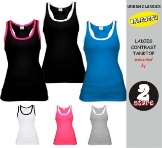 URBAN CLASSICS LADIES CONTRAST TANKTOP DAMEN T SHIRT TOP SHIRT 6