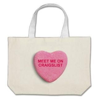 MEET ME ON CRAIGSLIST CANDY HEART CANVAS BAGS